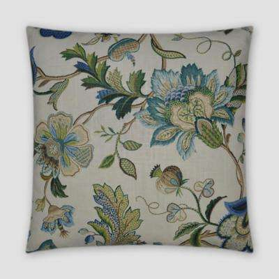 Brissac Sapphire Feather Down 20 in. x 20 in. Standard Decorative Throw Pillow