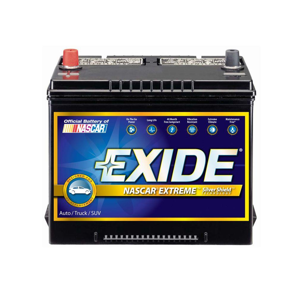Exide Extreme 12 Volts Lead Acid 6 Cell 51r Group Size 510 Cold