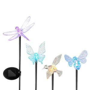 Yards & Beyond Solar Powered LED Assorted Acrylic Insect Garden Stake Set... by Yards & Beyond