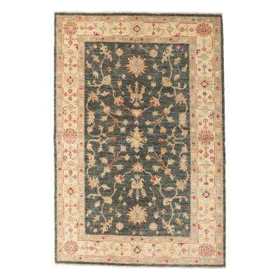 Oushak Green 4 ft. x 6 ft. Indoor Area Rug