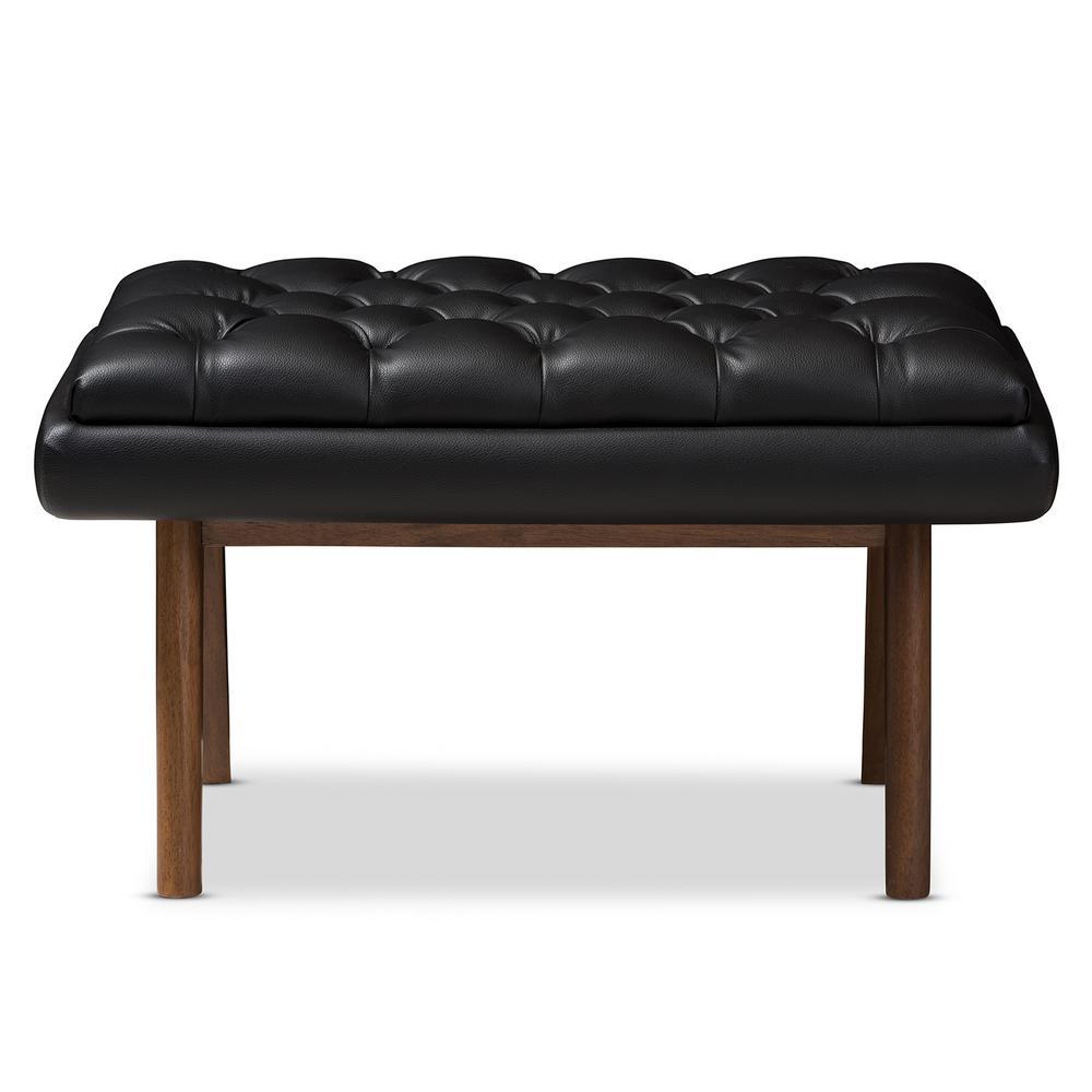 Awe Inspiring Baxton Studio Annetha Black Tufted Stool 144 7934 Hd The Lamtechconsult Wood Chair Design Ideas Lamtechconsultcom
