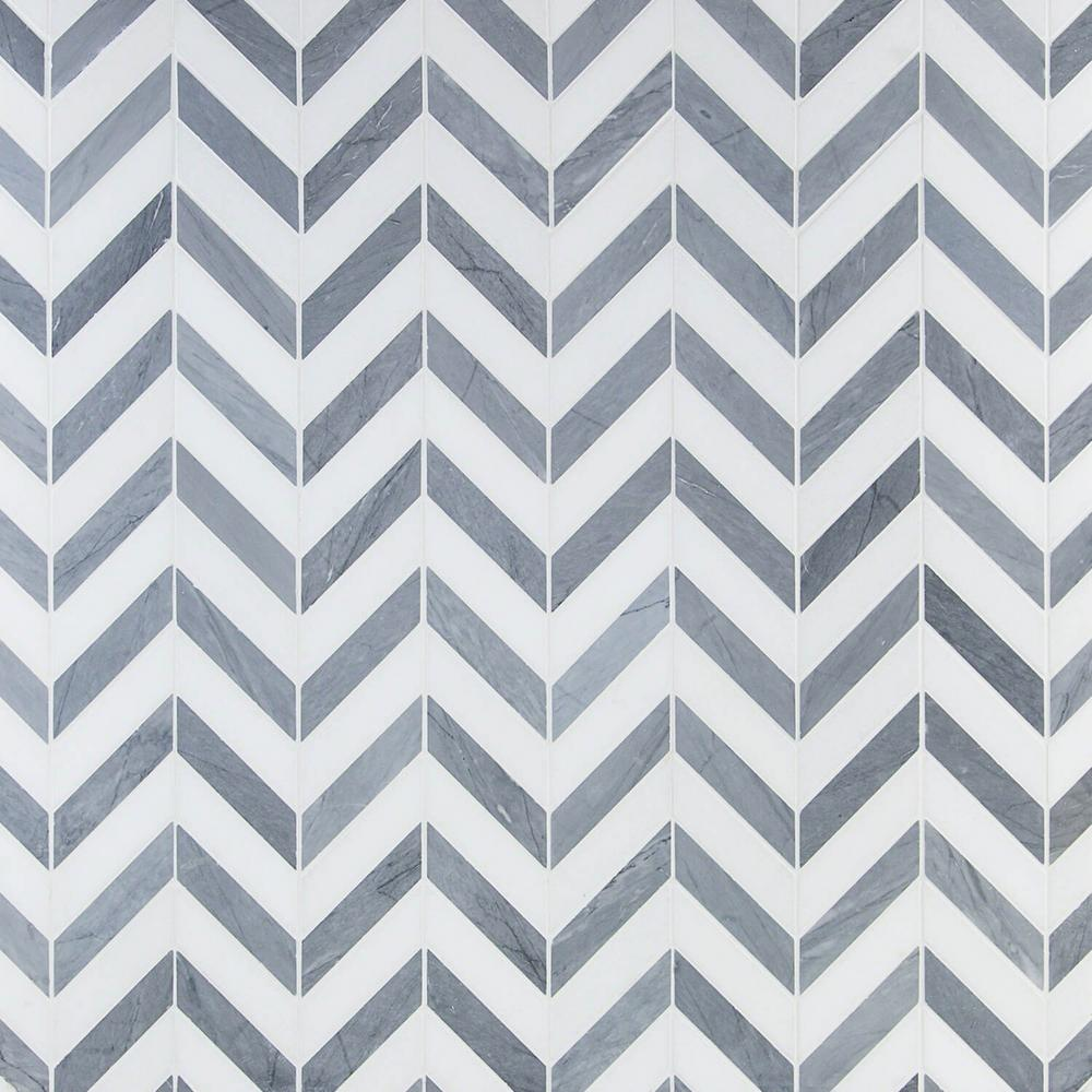Ivy Hill Tile Dart Mabin Gray And White