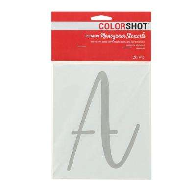Upper Case Cursive Alphabet Medium Stencil (Set of 26)