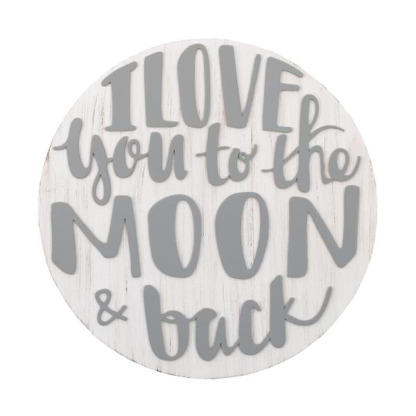 Love You To The Moon And Back Grey