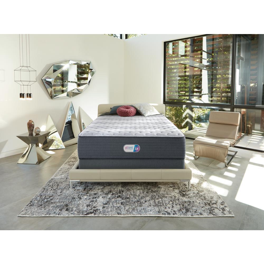 Platinum Haven Pines 16 in. Queen Plush Pillow Top Mattress Set