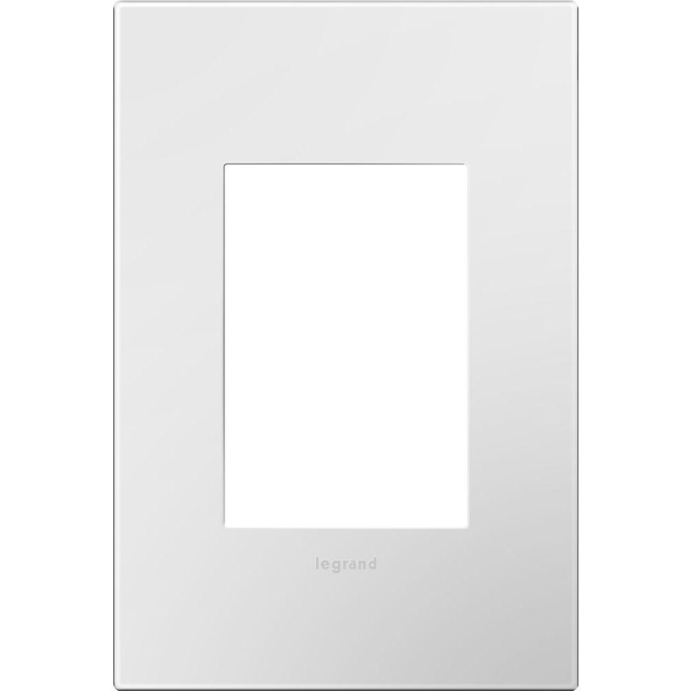 1 Gang 3 Module Wall Plate - Gloss White