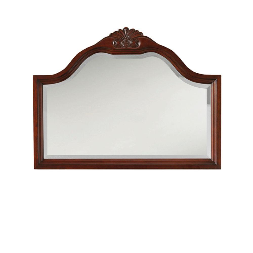 Home Decorators Collection Portland 40 in. W Large Mirror in Cherry