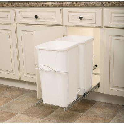 11.37 in. x 22 in. x 18.75 in. In Cabinet Pull-Out Bottom Mount Trash Can