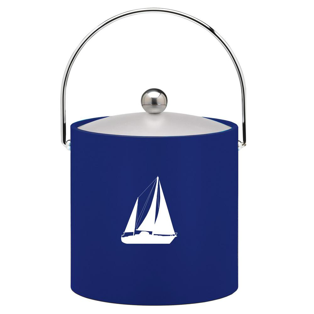 Kasualware Sailboat 3 Qt. Ice Bucket in Blue