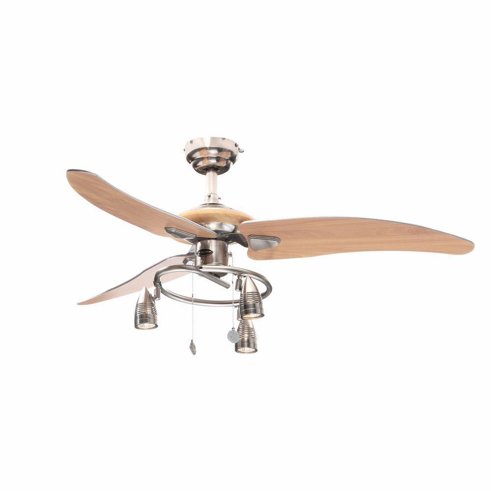 Elite 48 in. Brushed Nickel Ceiling Fan