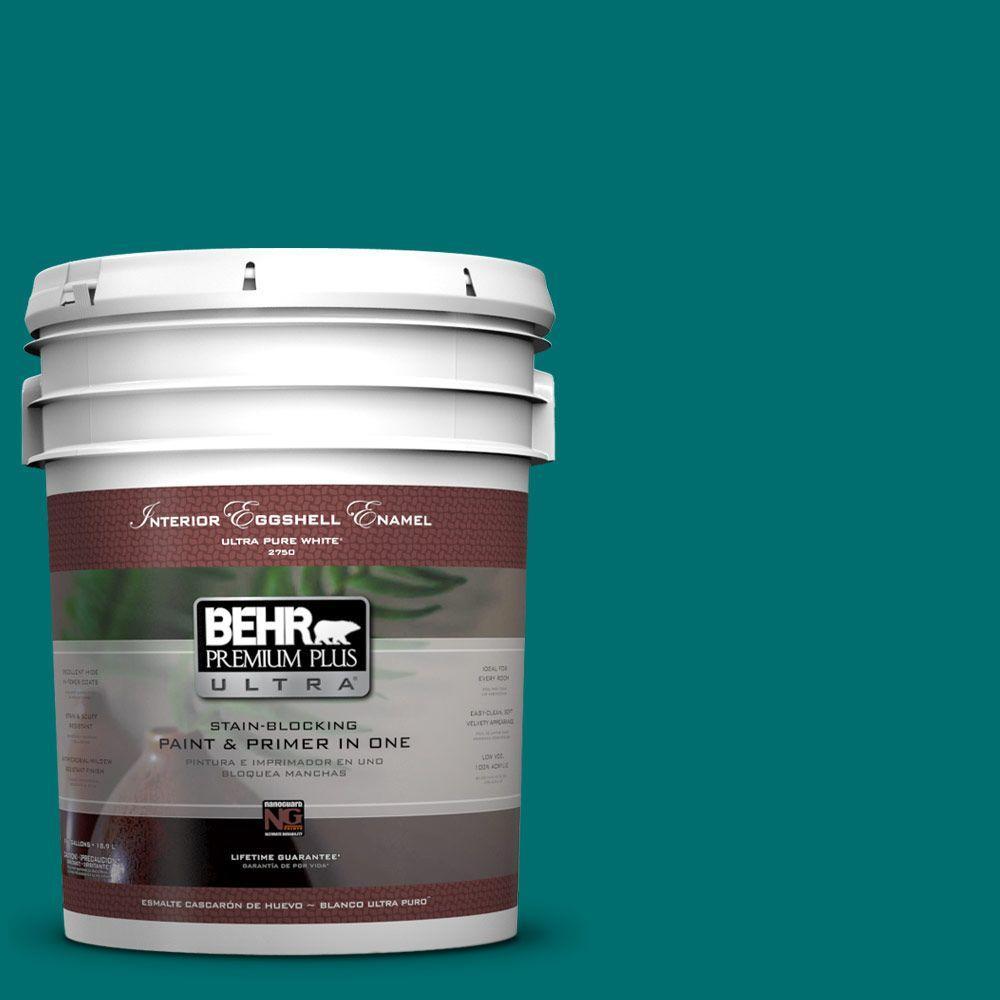 BEHR Premium Plus Ultra 5-gal. #P460-7 Caribbean Current Eggshell Enamel Interior Paint