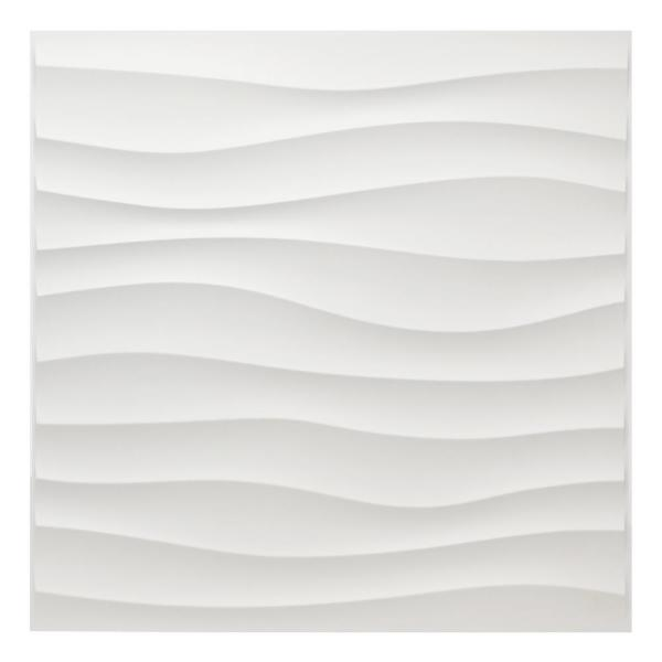 Art3dwallpanels 19.7 in. x 19.7 in. White PVC 3D Wall Panels