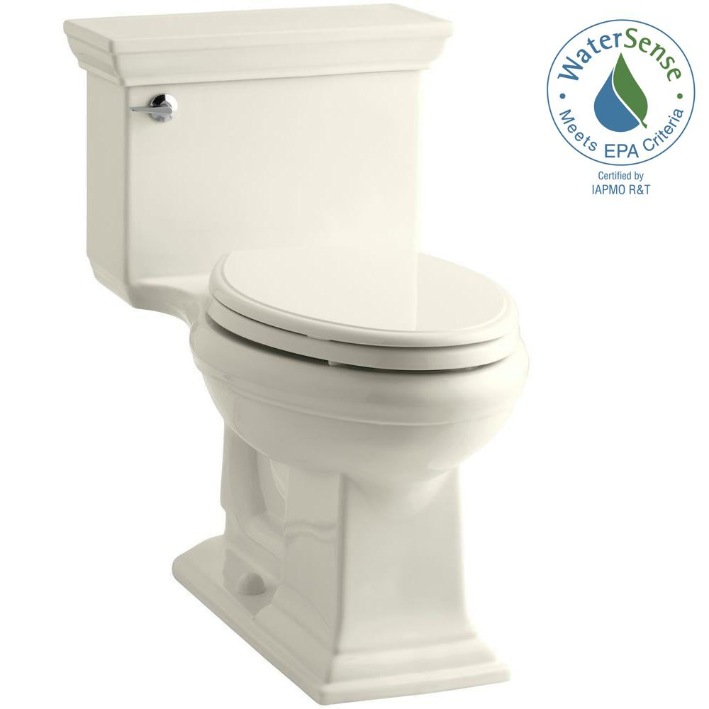 Memoirs Comfort Height 1-piece 1.28 GPF Single Flush Elongated Toilet with