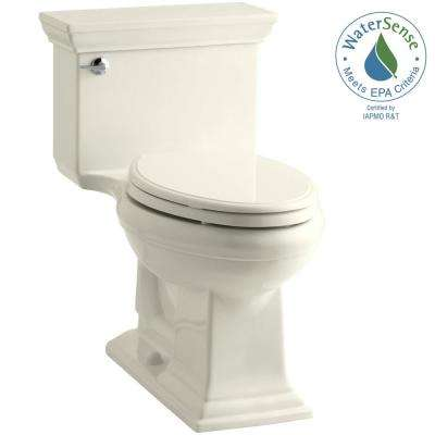 Memoirs Comfort Height 1-piece 1.28 GPF Single Flush Elongated Toilet with AquaPiston Flushing Technology in Biscuit
