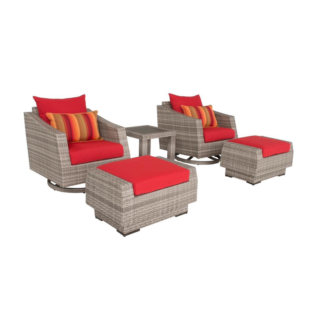 Rst Brands Cannes 5 Piece All Weather Wicker Patio Deluxe