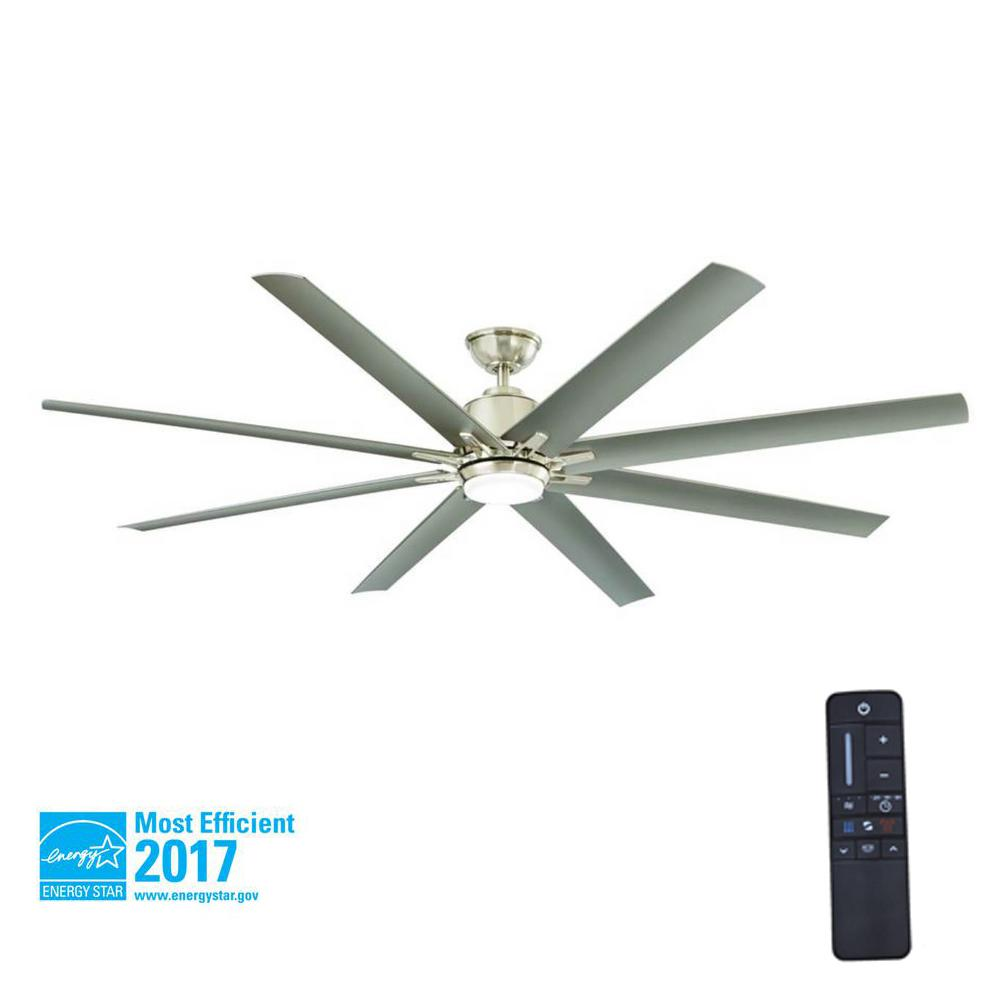 Home Decorators Collection Kensgrove 72 In Led Indoor Outdoor Brushed Nickel Ceiling Fan With