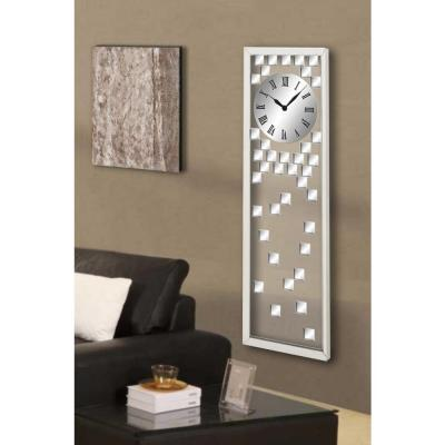 Contemporary 42 in. Mirrored Wall Clock
