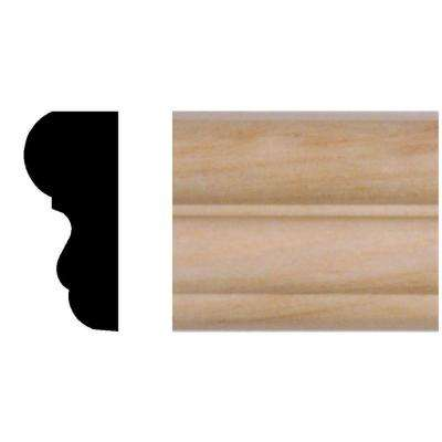 3/4 in. x 1-3/4 in. x 96 in. Hardwood Colonial Panel Moulding