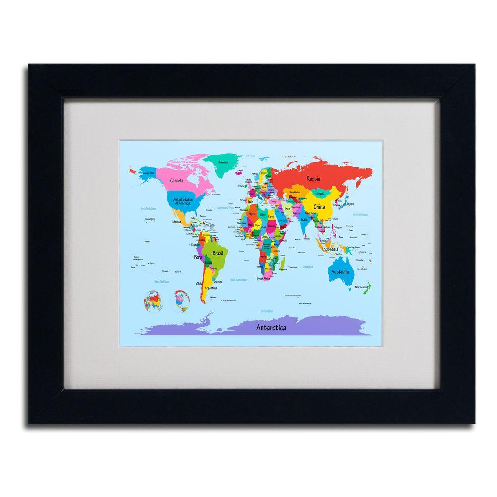 11 in x 14 in childrens world map canvas art mt0300 b1114mf the childrens world map canvas art gumiabroncs Gallery
