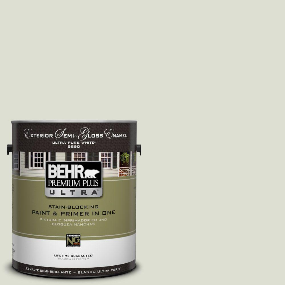 1-Gal. #UL210-10 Whitened Sage Semi-Gloss Enamel Exterior Paint