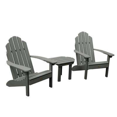 Classic Westport Coastal Teak 3-Piece Recycled Plastic Outdoor Conversation Set