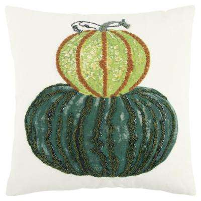 Harvest Pumpkins 20 in. x 20 in. Decorative Filled Pillow