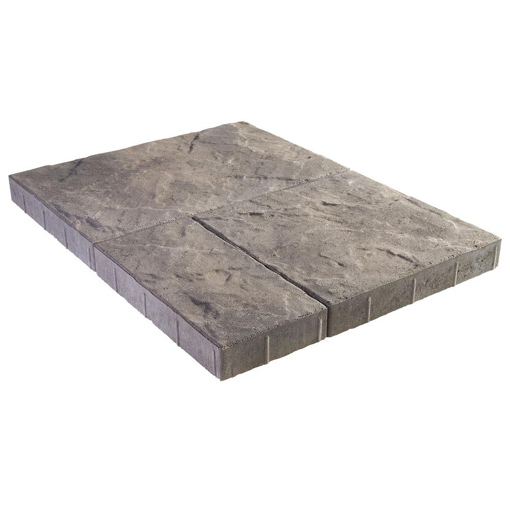 c169b37fd38a Panorama Supra 3-pc 15.75 in. x 15.75 in. x 2.25 in. Antique Pewter  Concrete Paver (60 Pcs.   103 Sq. ft.   Pallet)
