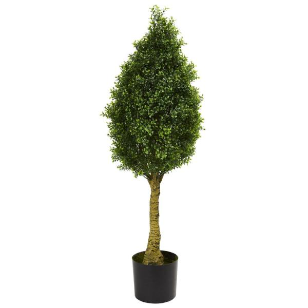 UV Resistant Indoor/Outdoor Boxwood Tower Artificial Tree