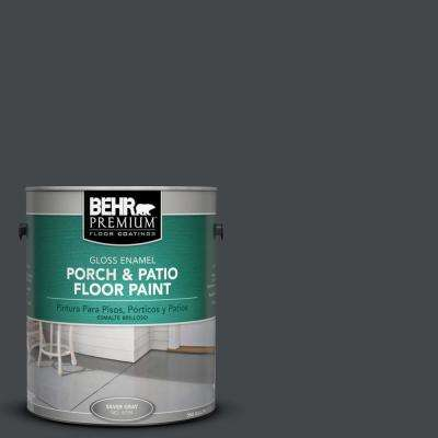 1 gal. #PPU24-23 Little Black Dress Gloss Porch and Patio Floor Paint