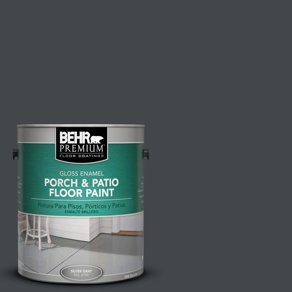 1 gal. #PPU24-23 Little Black Dress Gloss Porch and Patio Floor Paint