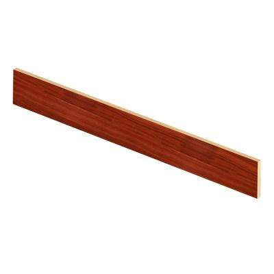Goldwyn Cherry 94 in. Length x 1/2 in. Deep x 7-3/8 in. Height Laminate Riser to be Used with Cap A Tread