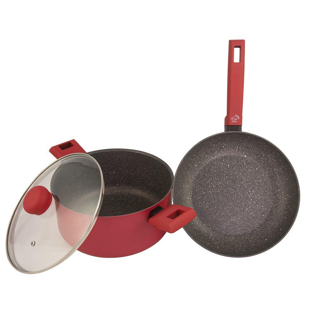 Moneta Riviera 3-Piece Non-Stick Cookware Set with Lid
