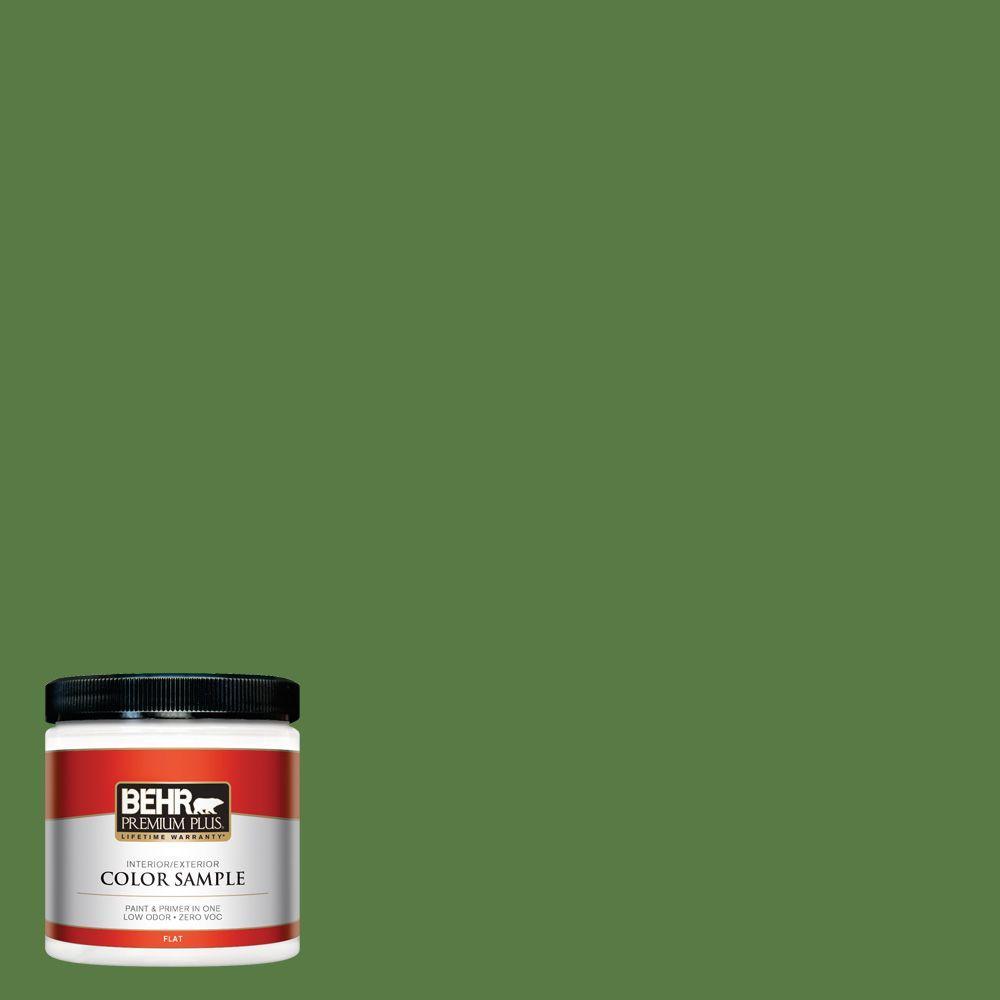 BEHR Premium Plus 8 oz. #S-H-430 Mossy Green Interior/Exterior Paint Sample