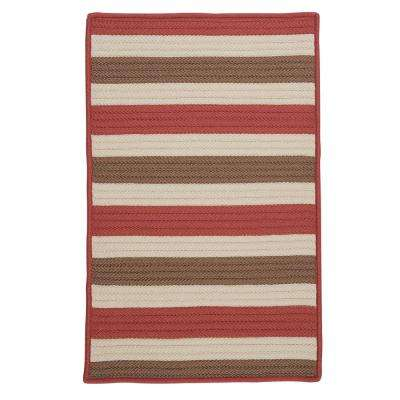 Baxter Terracotta 2 ft. x 3 ft. Indoor/Outdoor Braided Area Rug
