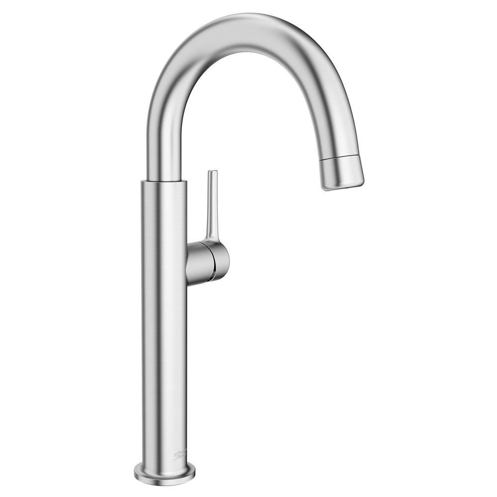 AmericanStandard American Standard Studio S Single-Handle Bar Faucet with Pull Down Spray Handle in Stainless Steel, Silver