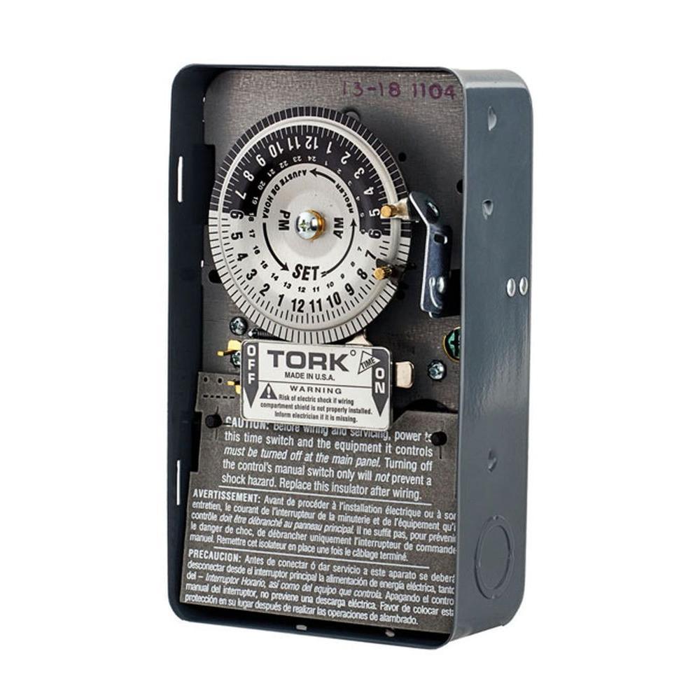 tork 208 277 volt 24 hour mechanical time switch 1104b the home depot rh homedepot com tork 1103 timer wiring diagram