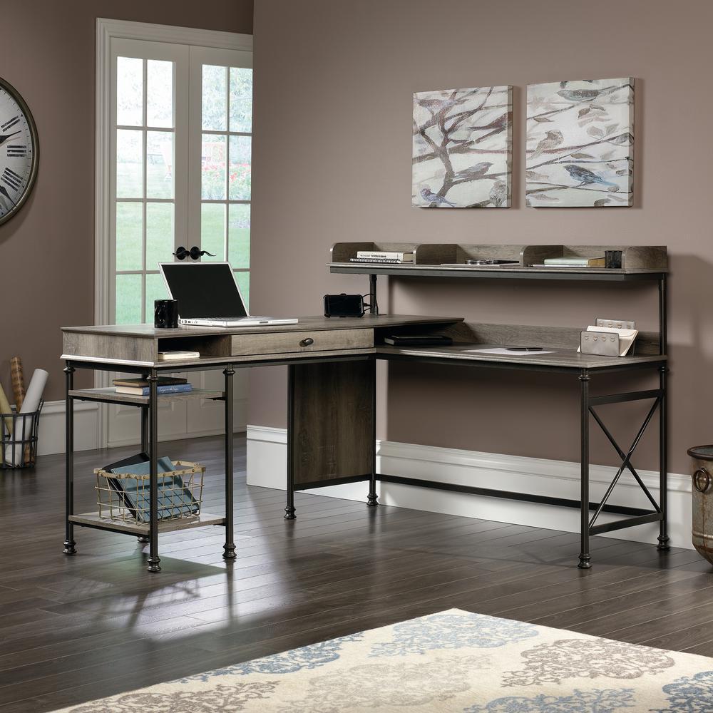 Canal Street Northern Oak L-Shaped Desk