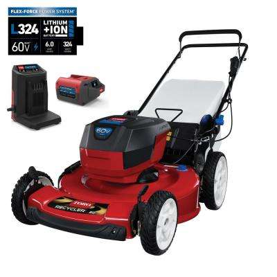 22 in. Recycler 60-Volt Lithium-Ion Cordless Battery Walk Behind Push Lawn Mower - 6.0 Ah Battery/Charger Included