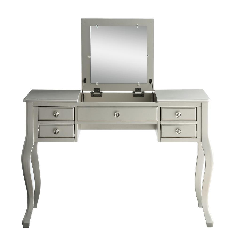 Linon Home Decor Jackson 2-Piece Cream Vanity Set 58037CRM