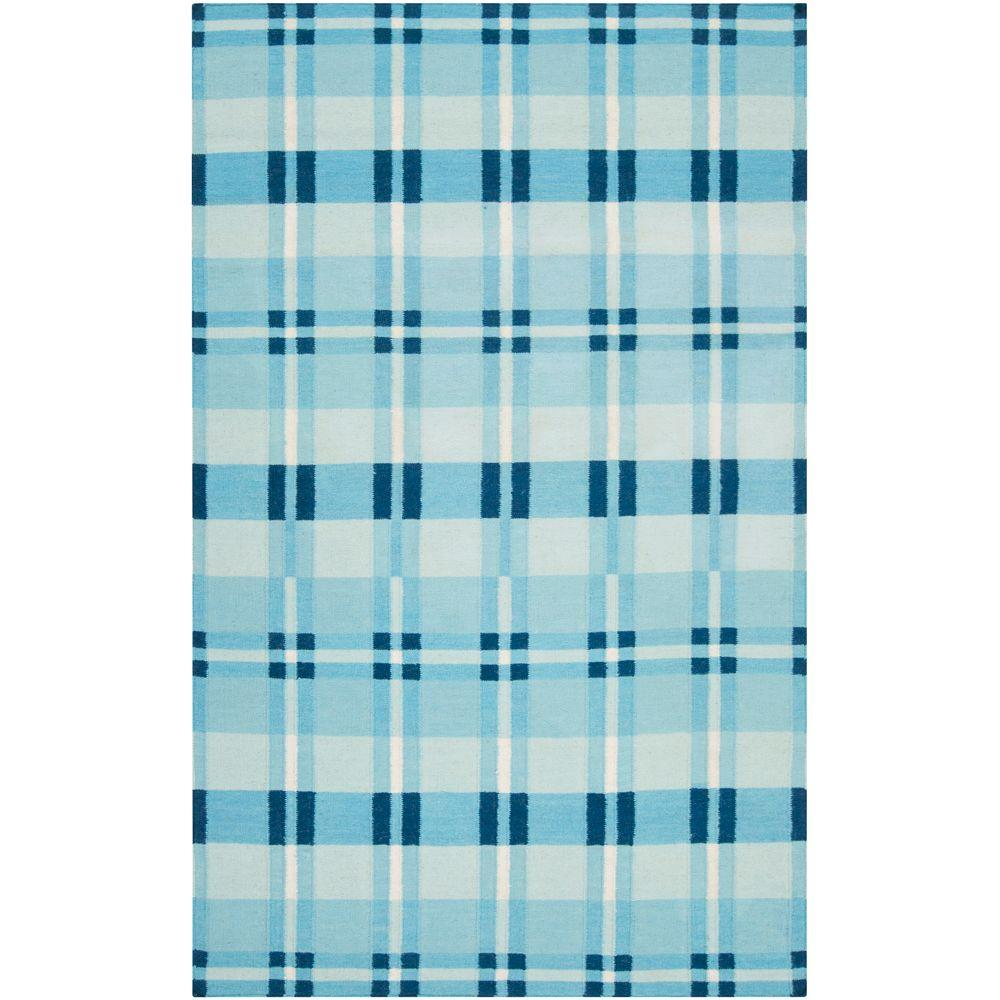 Country Living Blue Jay 5 ft. x 8 ft. Flatweave Area