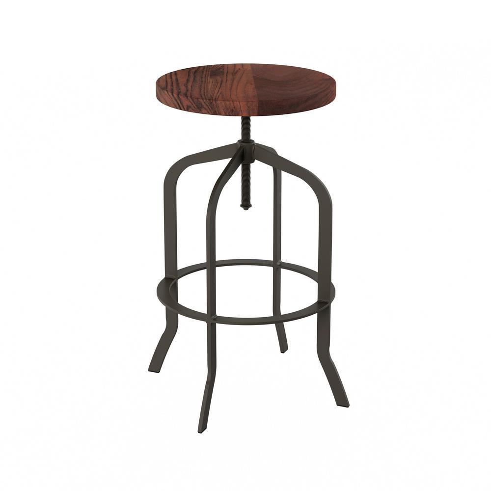 Miraculous Lavish Home 32 75 In Adjustable Modern Backless Metal Beatyapartments Chair Design Images Beatyapartmentscom