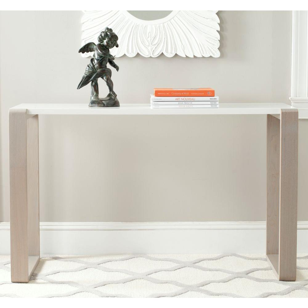 Safavieh Bartholomew White and Grey Console TableFOX4209B The