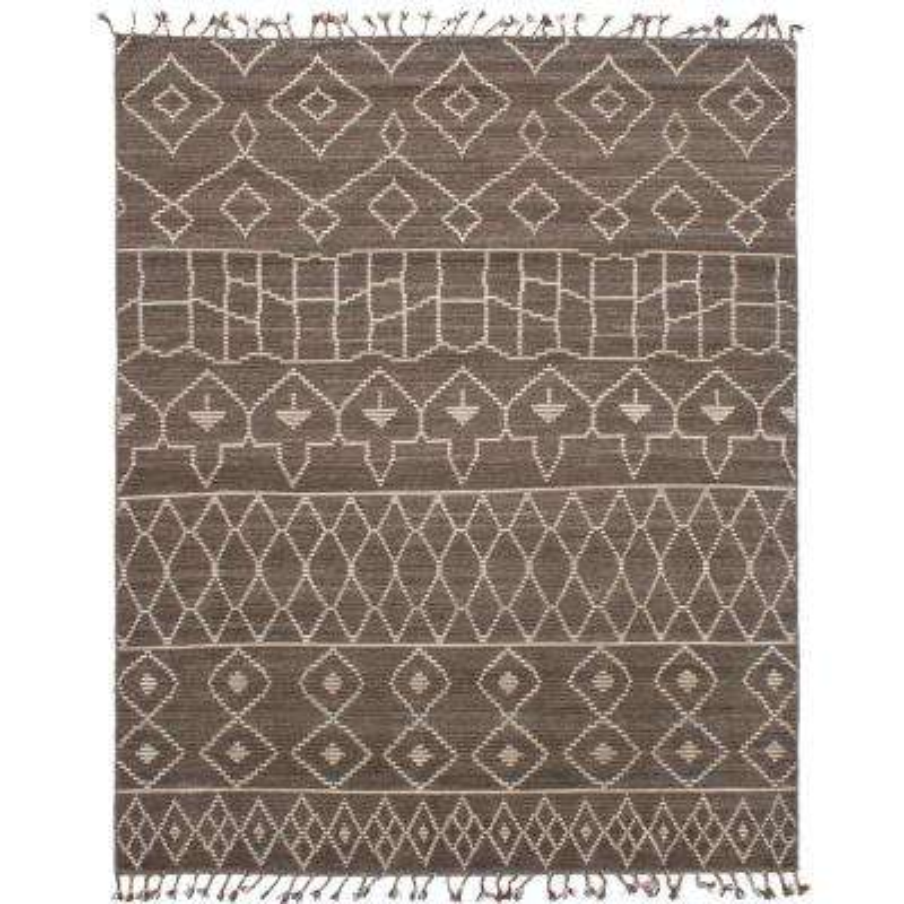 Tangier Brown, Dark Grey 8 ft. x 10 ft. Indoor Area Rug