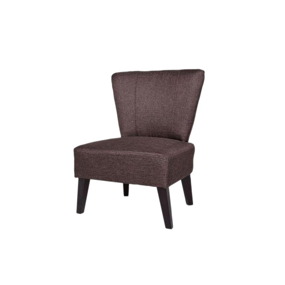 Attrayant Alice Contemporary Fabric Upholstered Accent Chair, Brown