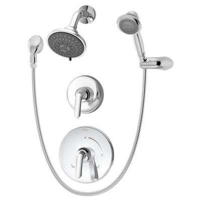 Elm 3-Spray Hand Shower and Shower Head Combo Kit in Chrome (Valve Included)