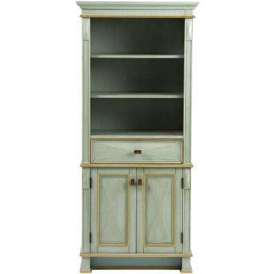 Dinsmore 28-3/4 in. W x 65 in. H x 14 in. D Bathroom Linen Storage Cabinet in Gilded Green