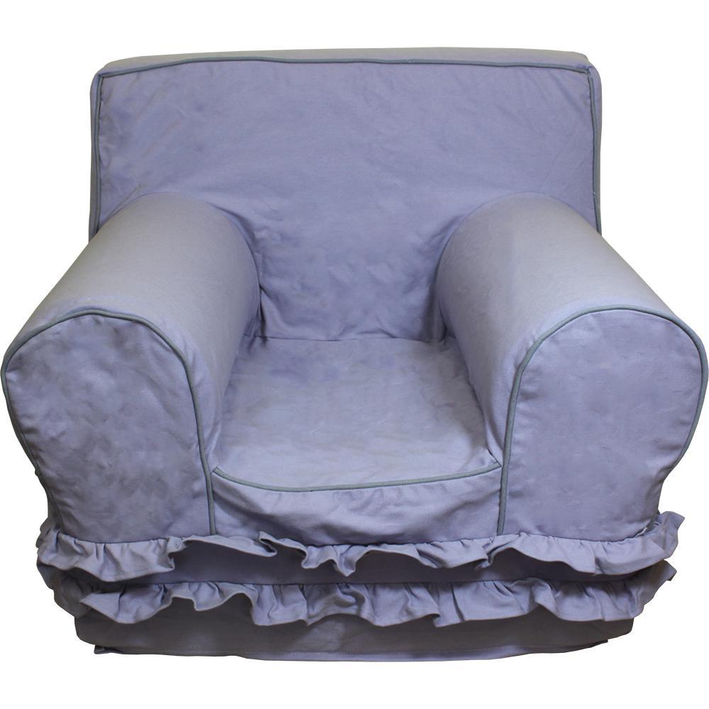 Wondrous Kids Regular Size Foam Chair With Lavender Ruffle Cover Creativecarmelina Interior Chair Design Creativecarmelinacom