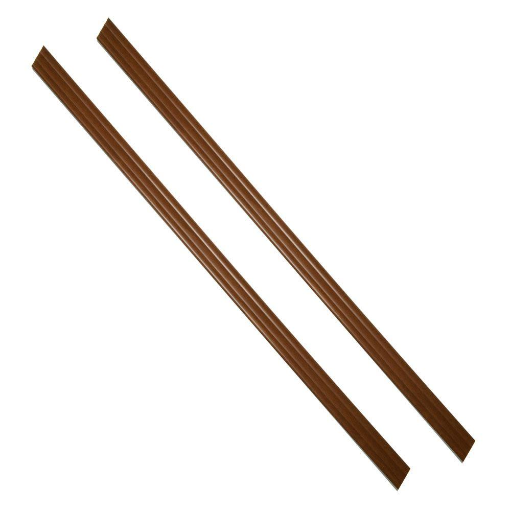 MirrEdge 36 in. Royal Oak Woodgrain Strips (2-Pack)
