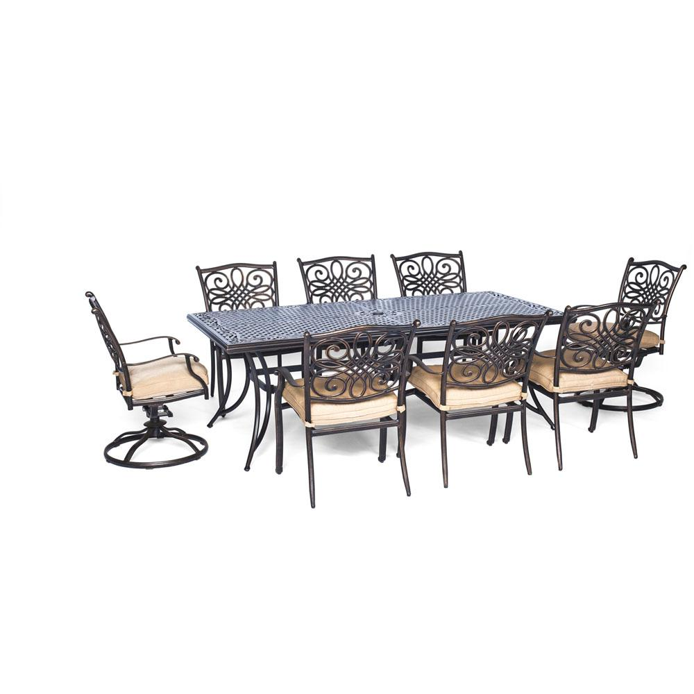 Dining Set Tan Cushions Dining Chairs Swivel Rockers Dining