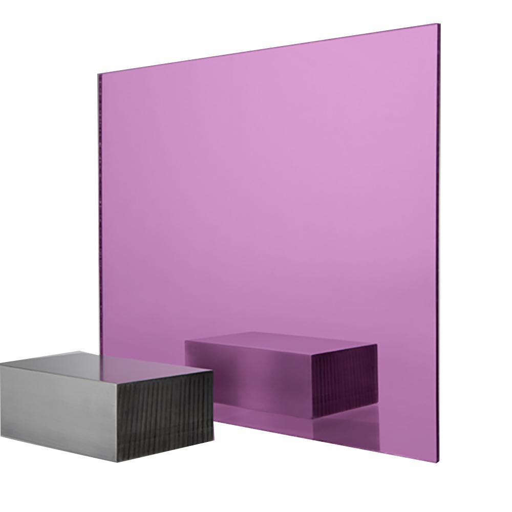 FABBACK 24 in  x 48 in  x  118 in  Pink Acrylic Mirror